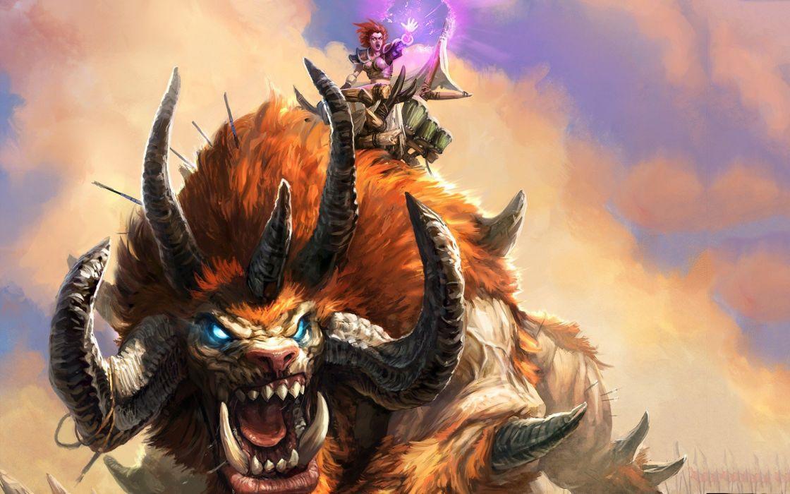 fantasy art magic artwork card game Battleforge wallpaper