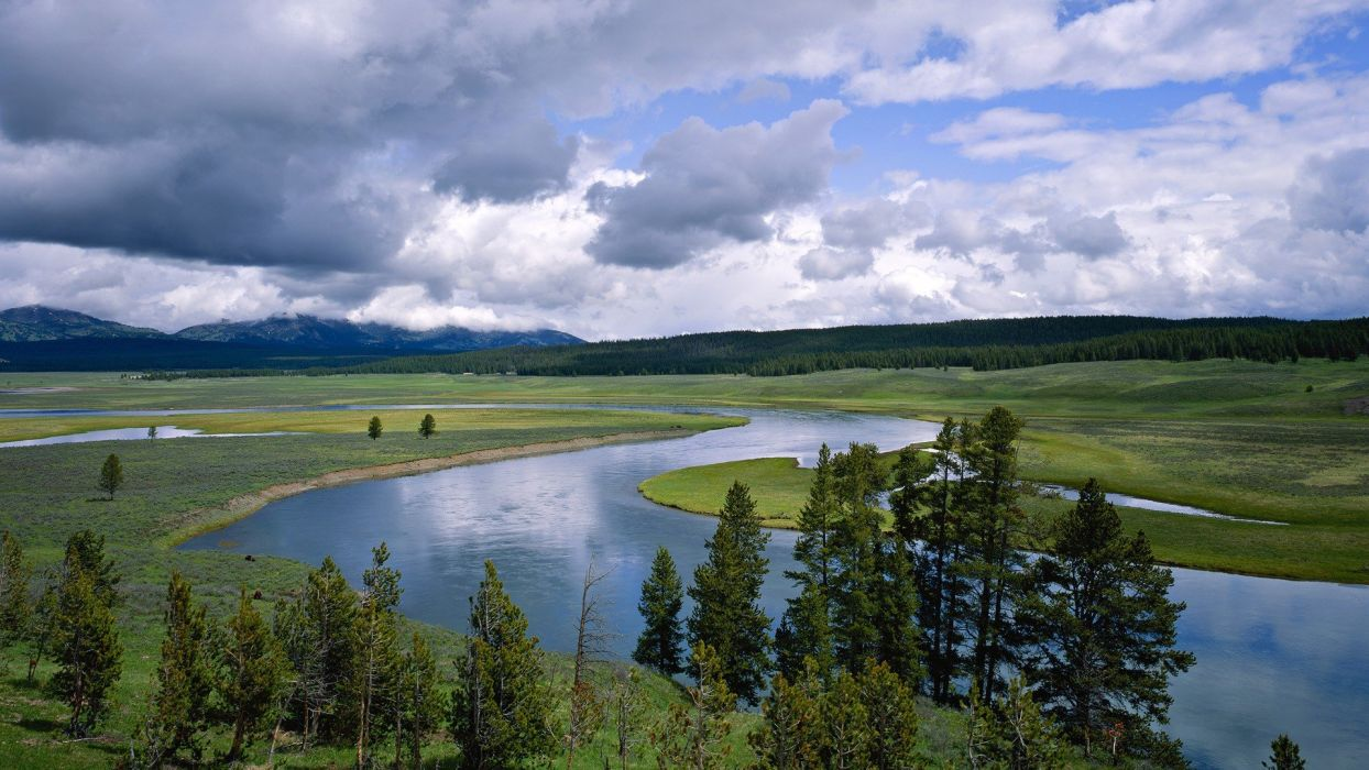Wyoming Yellowstone rivers National Park wallpaper