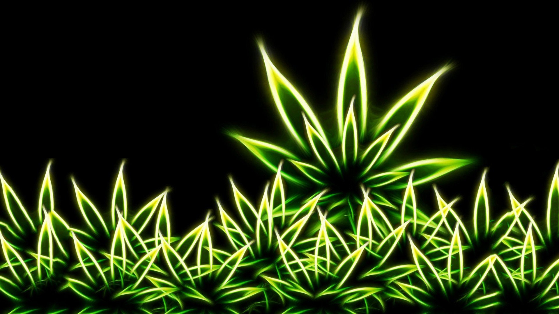 Drugs Grass Marijuana Digital Art Weeds Fractal Wallpaper