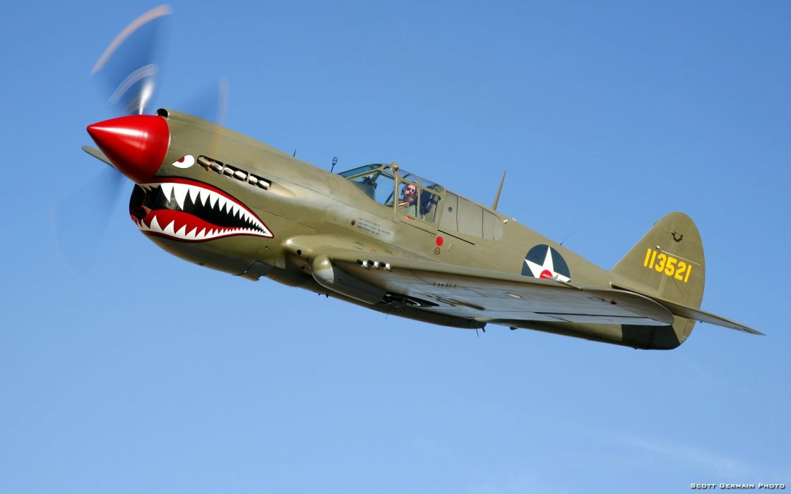 airplanes P-40 wallpaper