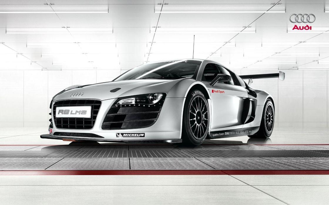 white cars Audi silver LeMans motorsports Audi R8 LMS German cars racing cars 24 hour endurance race wallpaper