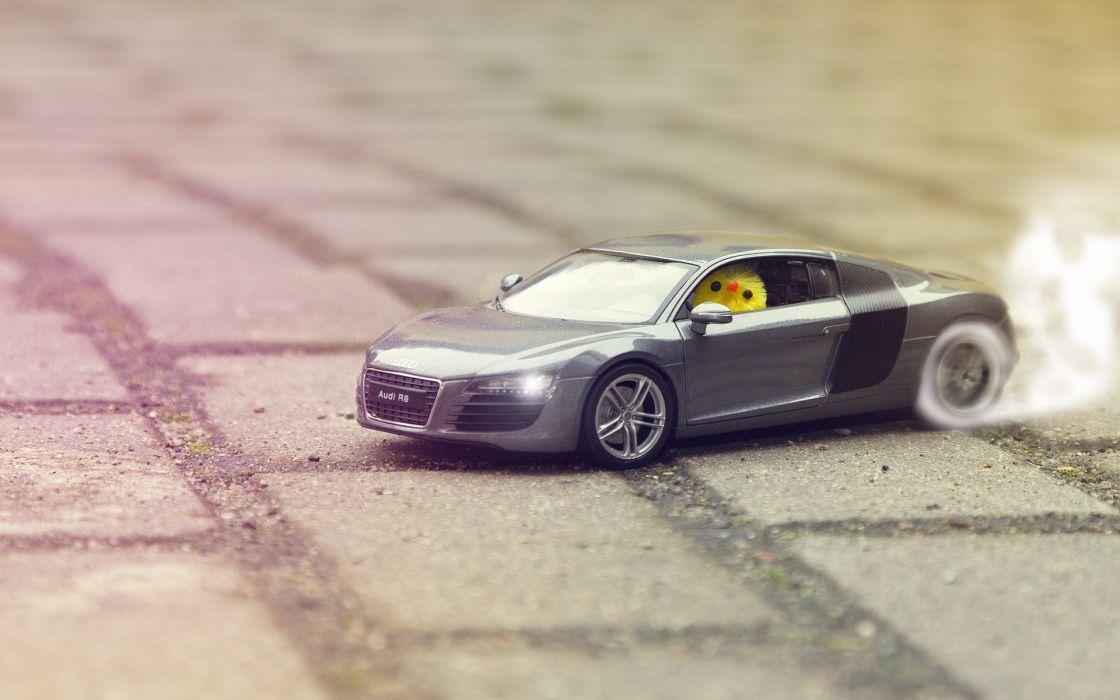 smoke Audi drifting cars chickens wheels Audi R8 burn wallpaper