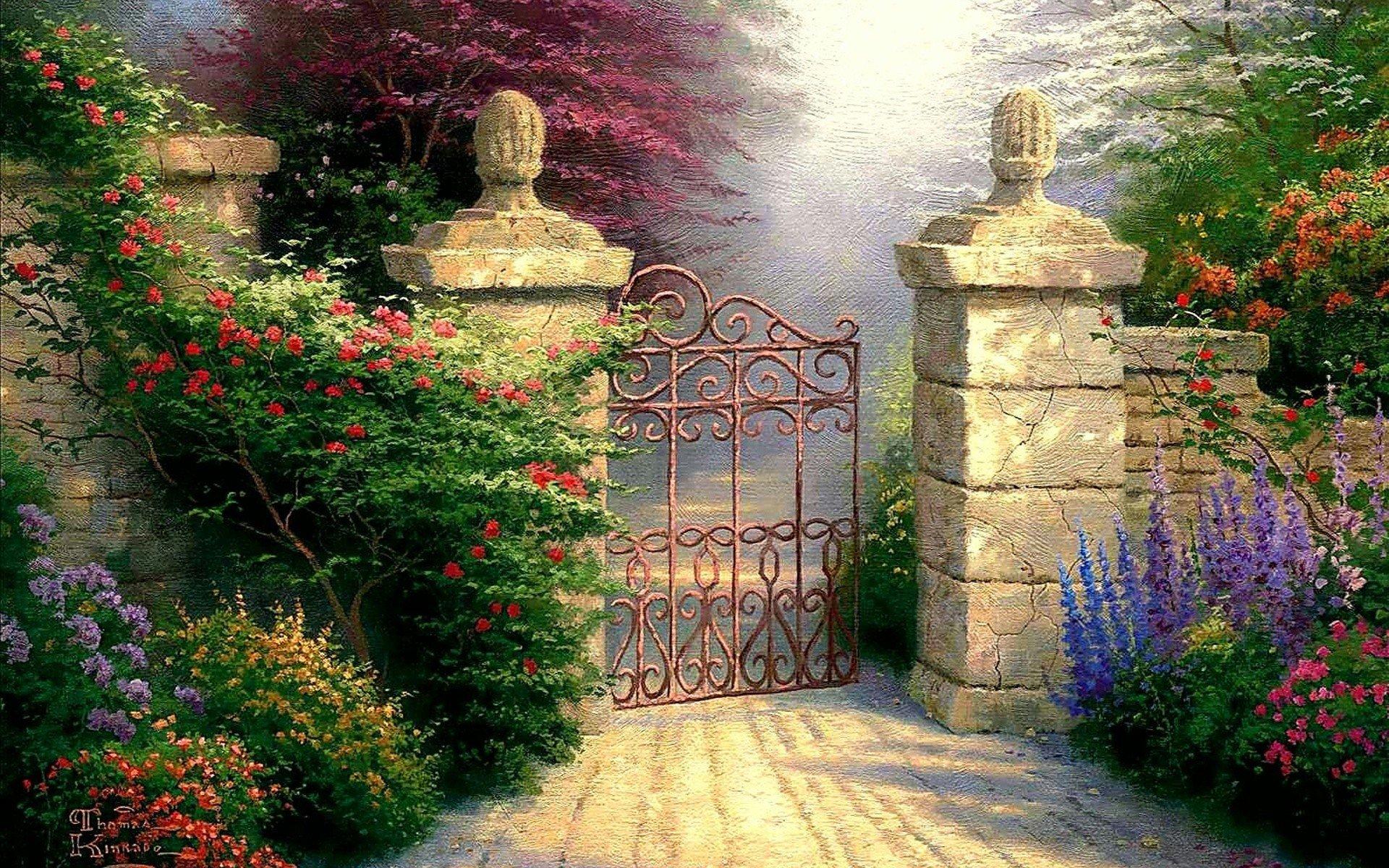 flower garden paintings paintings flowers garden - Flower Garden Paintings