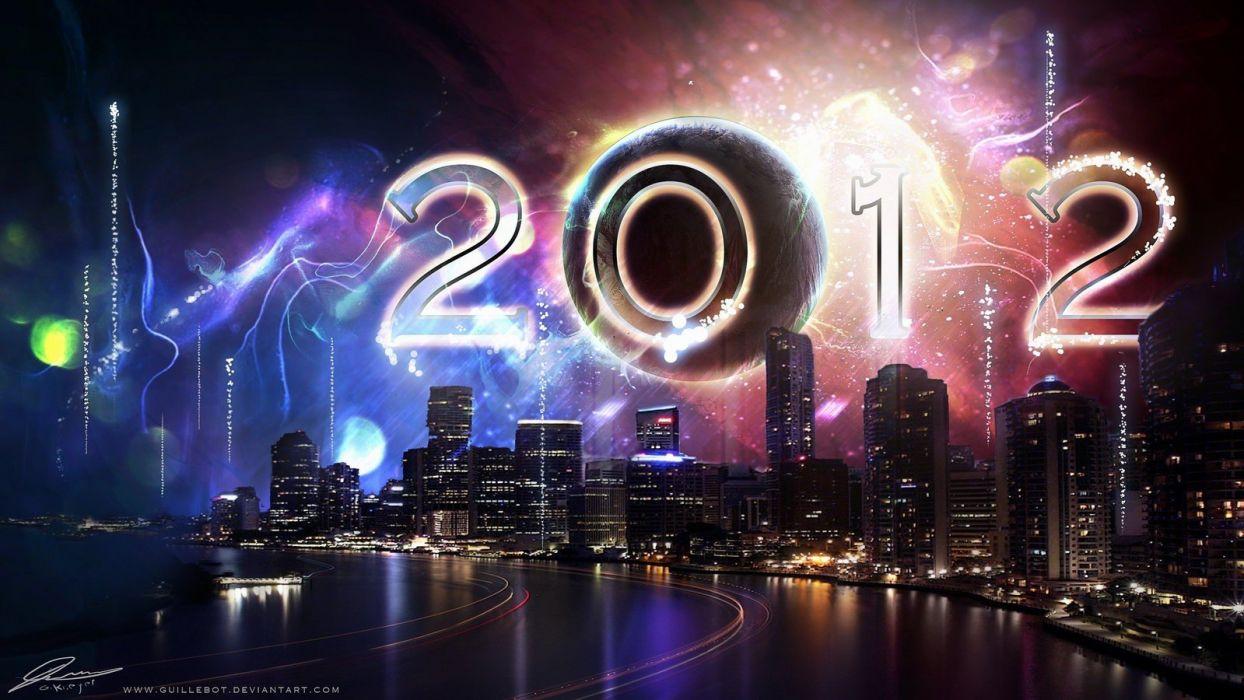 New Year digital art wallpaper