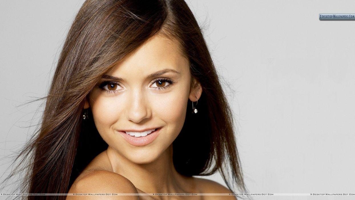 brunettes women eyes Nina Dobrev wallpaper