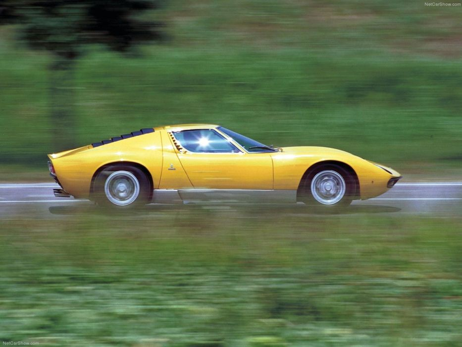 cars ride Lamborghini Miura wallpaper