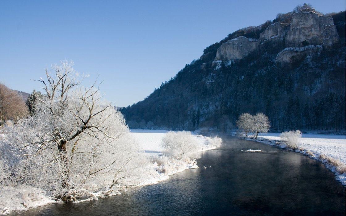 winter rivers wallpaper