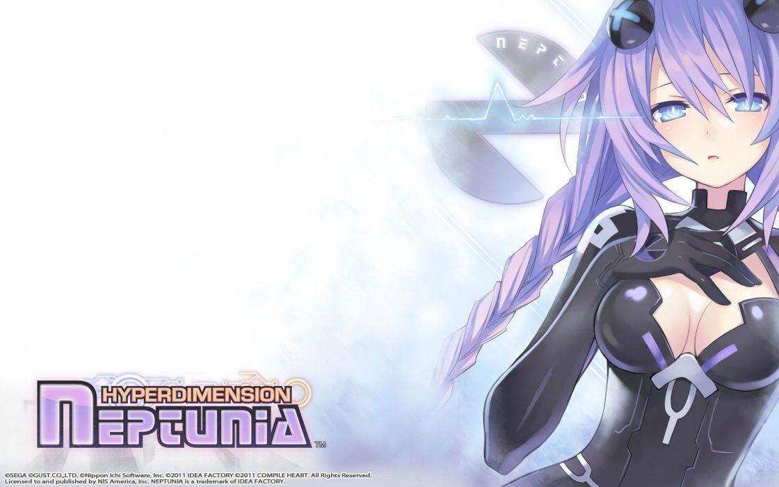 Purple Hair Anime Girls Hyperdimension Neptunia Heart Wallpaper