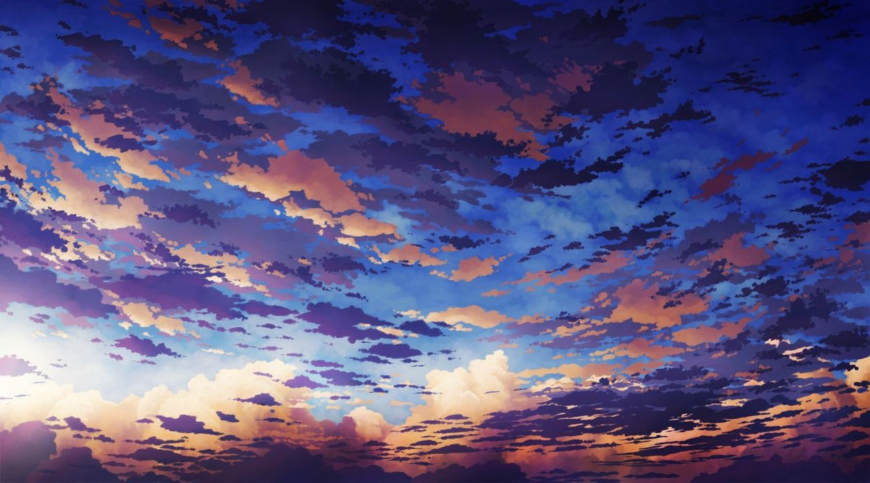 sunset clouds scenic skyscapes wallpaper