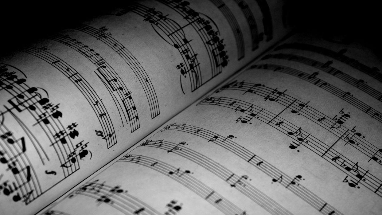 artwork music notes wallpaper