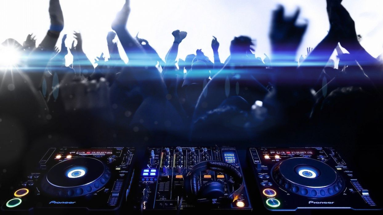 music techno party CDJ-1000 Pioneer DJ  djm 800 wallpaper