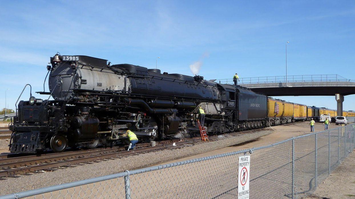 trains locomotives steam locomotives Union Pacific widescreen 4-6-6-4 Mallet locomotives wallpaper