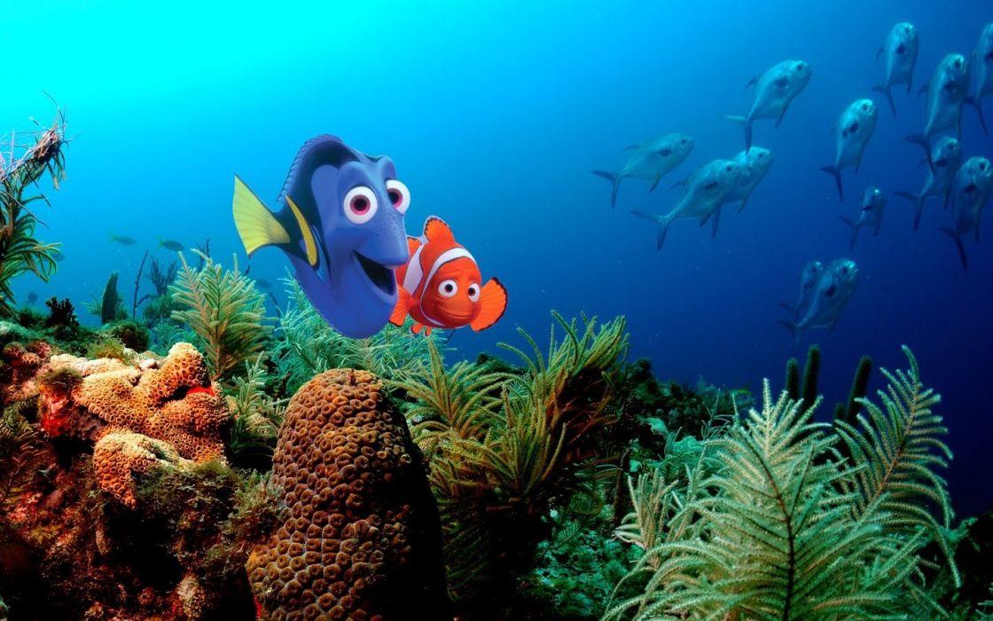 Pixar Disney Company Finding Nemo animation wallpaper