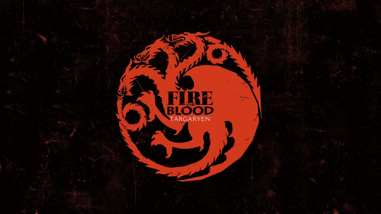Game of Thrones TV series arms House Targaryen thrones wallpaper