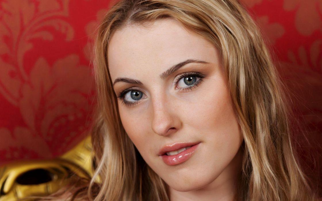 blondes women blue eyes models Femjoy magazine faces Angela K wallpaper