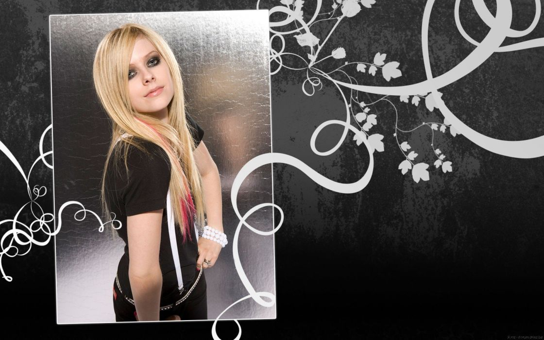 blondes women Avril Lavigne singers wallpaper