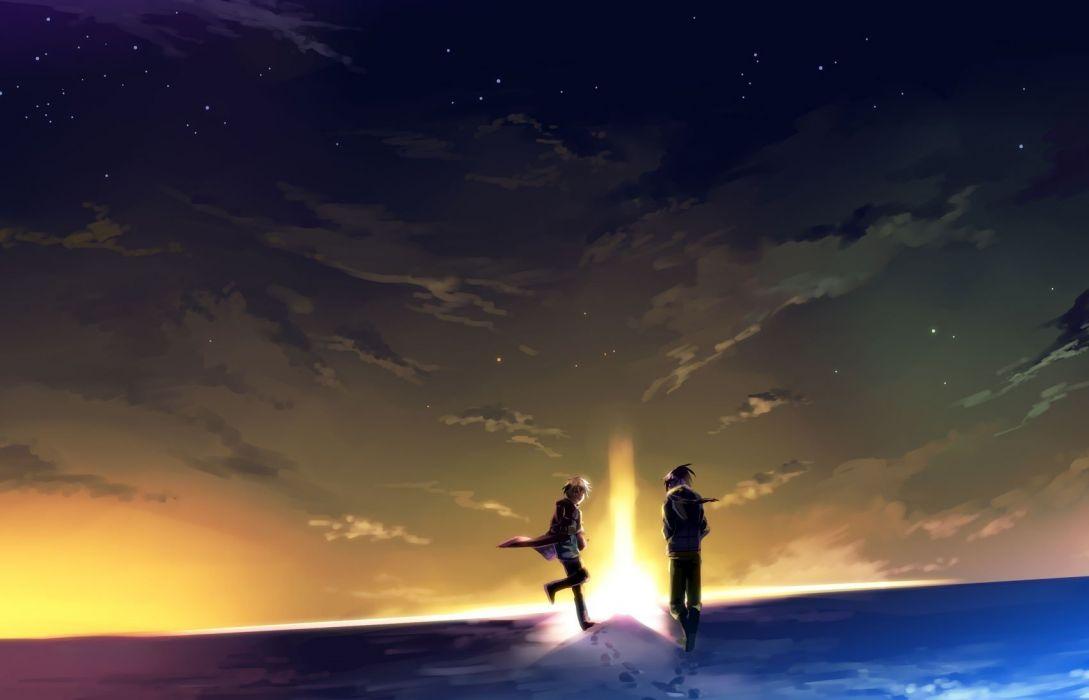 night anime boys skyscapes Shion Nezumi No_ 6 wallpaper