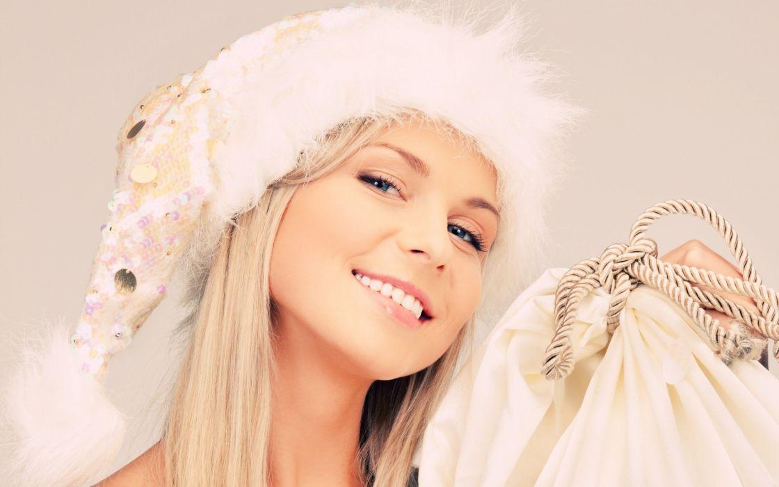 blondes women Christmas wallpaper