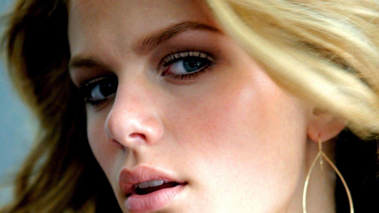 blondes women blue eyes celebrity Brooklyn Decker faces models wallpaper