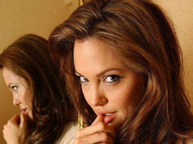mirrors Angelina Jolie wallpaper