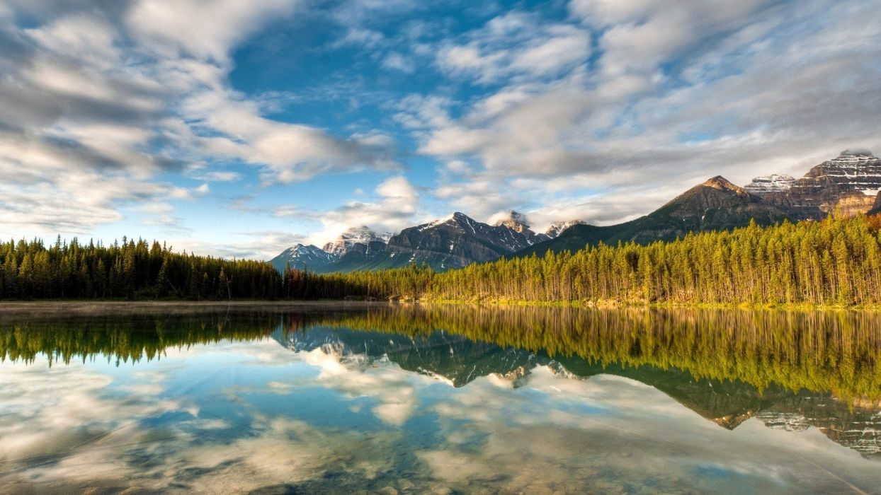 landscapes nature lakes skyscapes wallpaper