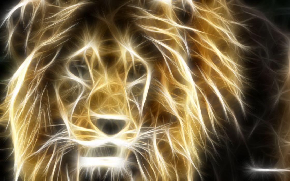 Fractalius lions wallpaper