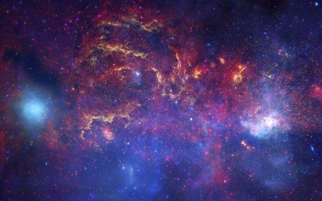outer space planets Milky Way wallpaper