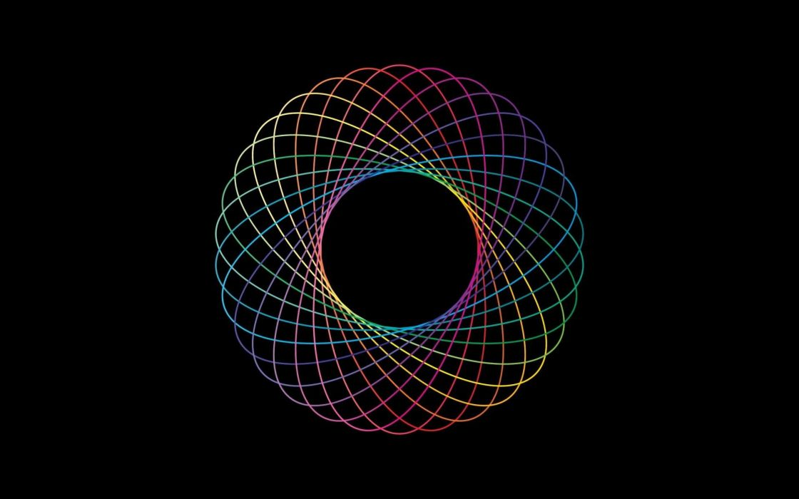 abstract rainbows simple spirograph colors color spectrum wallpaper