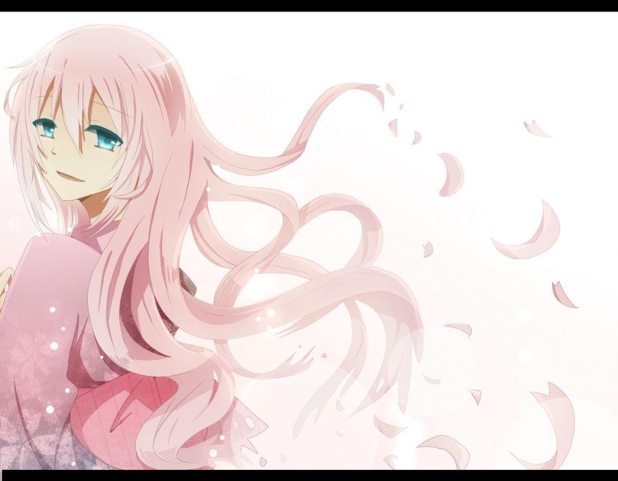 Vocaloid blue eyes Megurine Luka long hair pink hair anime anime girls wallpaper