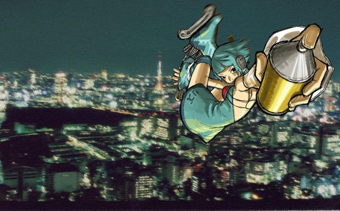JET SET RADIO action platform sports grind sega anime game (1) wallpaper