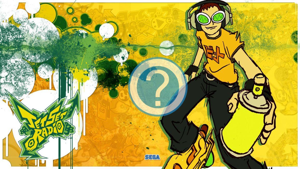 JET SET RADIO action platform sports grind sega anime game (2) wallpaper