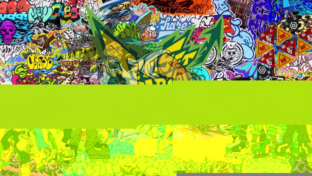 JET SET RADIO action platform sports grind sega anime game (8) wallpaper