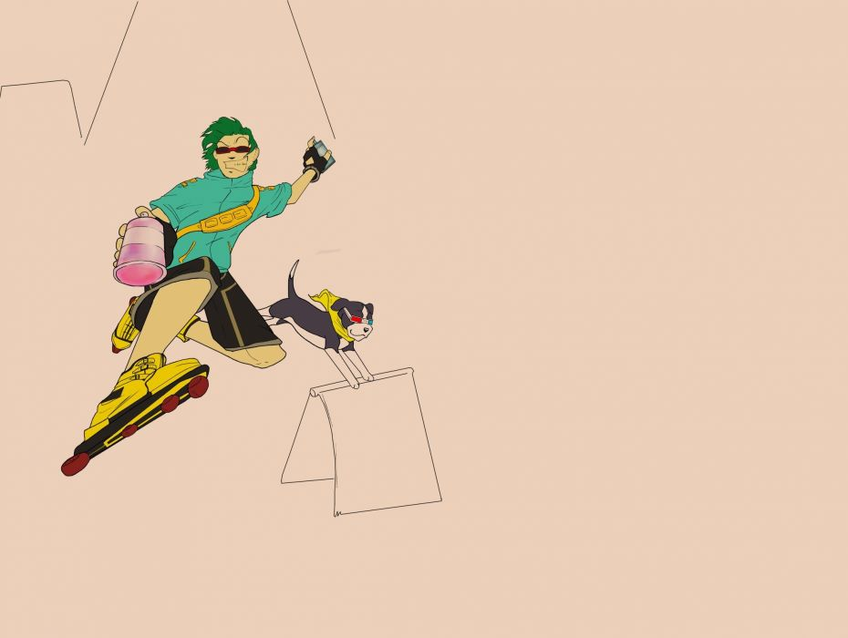 JET SET RADIO action platform sports grind sega anime game (9) wallpaper