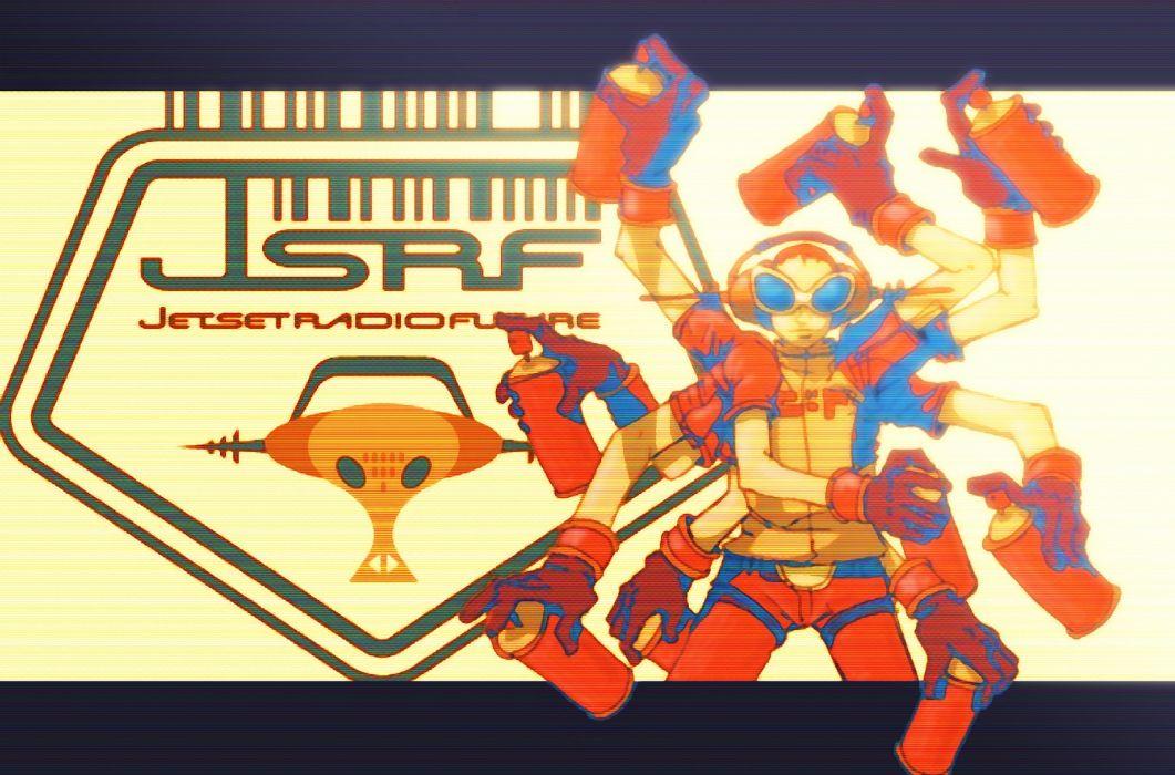JET SET RADIO action platform sports grind sega anime game (18) wallpaper