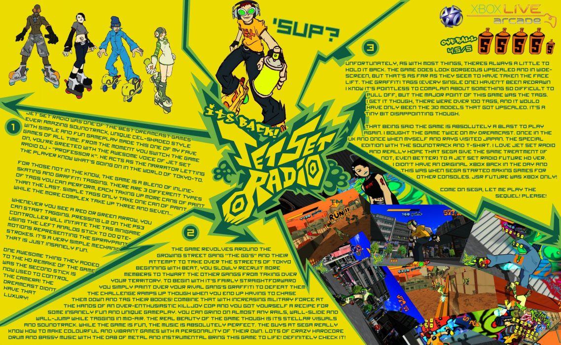 JET SET RADIO action platform sports grind sega anime game (19) wallpaper
