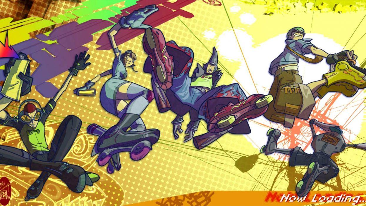 JET SET RADIO action platform sports grind sega anime game (22) wallpaper