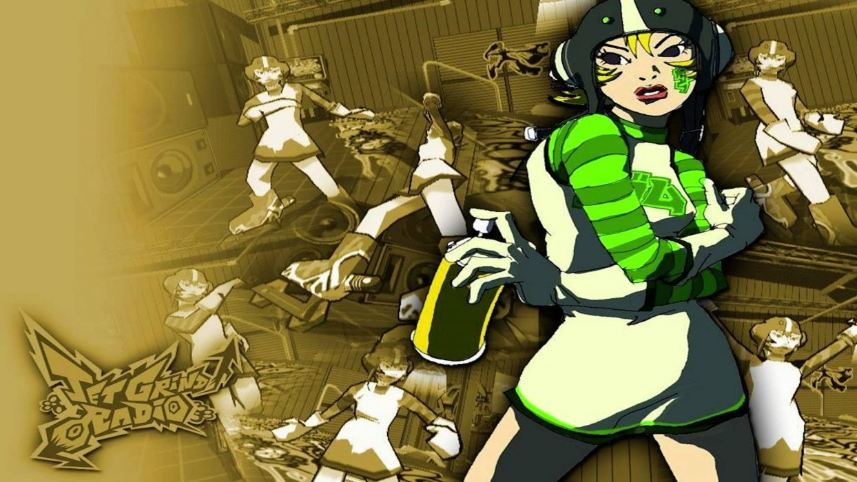 JET SET RADIO action platform sports grind sega anime game (23) wallpaper