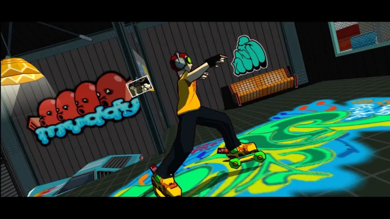 JET SET RADIO action platform sports grind sega anime game (25) wallpaper