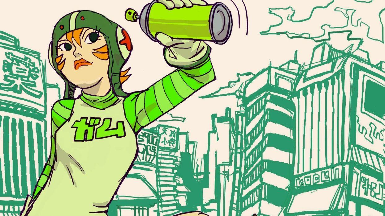 JET SET RADIO action platform sports grind sega anime game (26) wallpaper