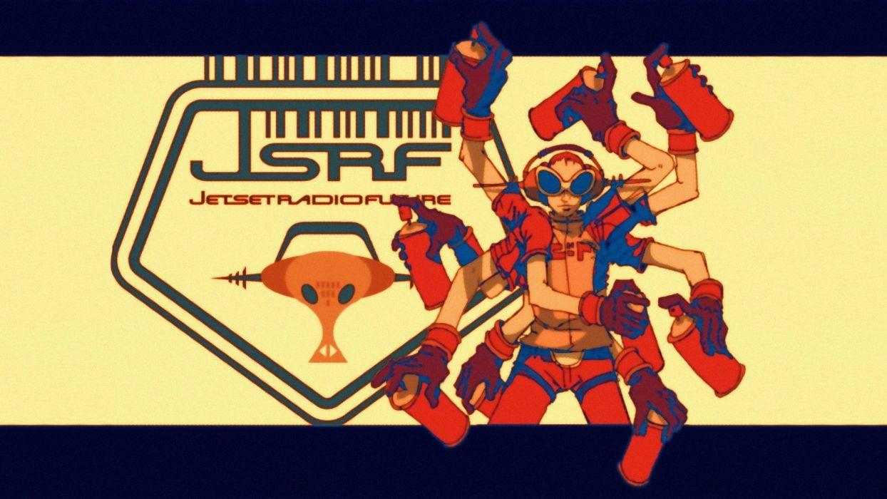 JET SET RADIO action platform sports grind sega anime game (32) wallpaper