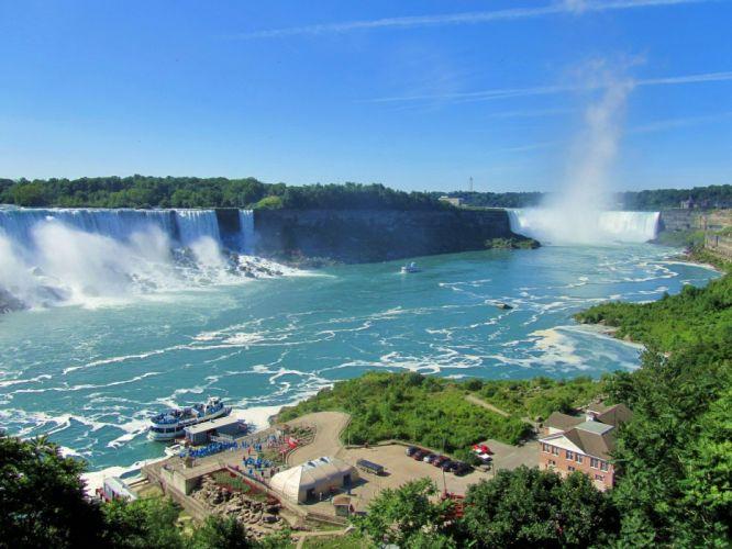 nature Canada Niagara Falls waterfalls wallpaper
