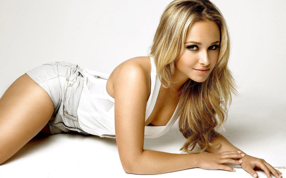blondes women actress Hayden Panettiere models celebrity white background wallpaper