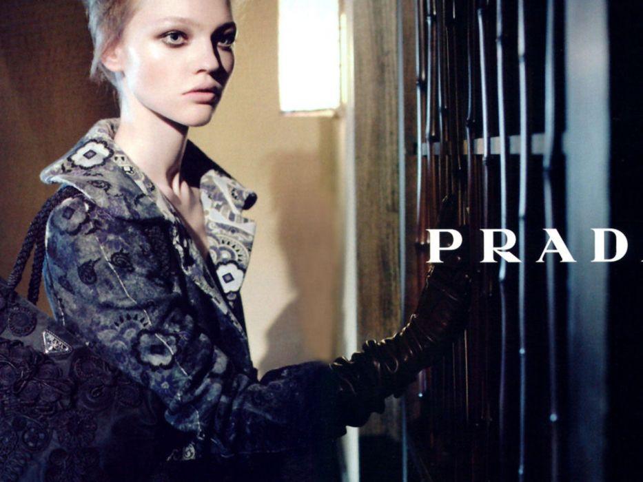 gloves fashion Prada  fashion photography Sasha Pivovarova fashion model designer label wallpaper