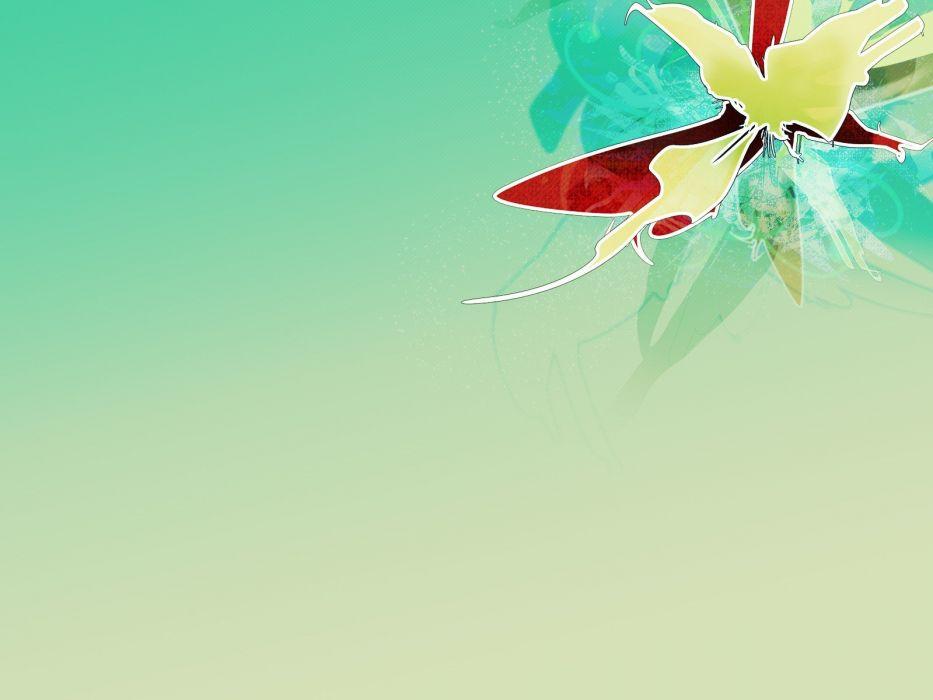 abstract flowers vectors wallpaper