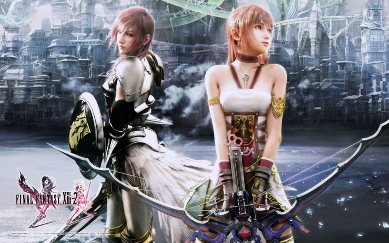Final Fantasy video games Claire Farron Final Fantasy XIII-2 Serah wallpaper