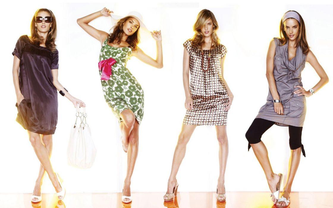 women models Alessandra Ambrosio white background wallpaper