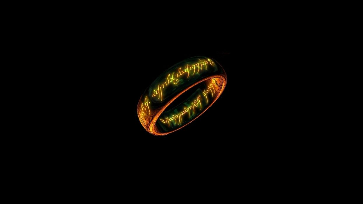 CGI rings The Lord of the Rings wallpaper