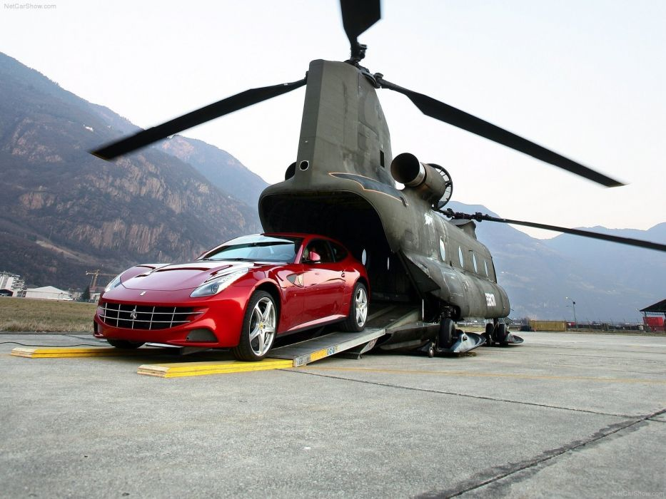 CH-47 Chinook Ferrari FF wallpaper