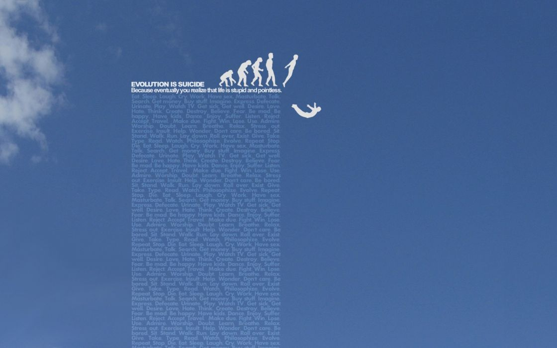 suicide typography evolution skyscapes wallpaper