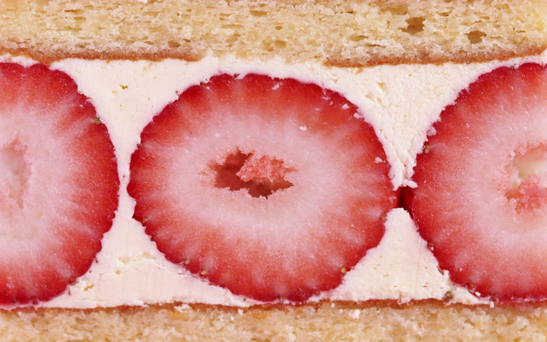 food strawberries cakes wallpaper
